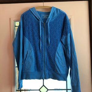 DKNY Crochet front Zip Hoodie